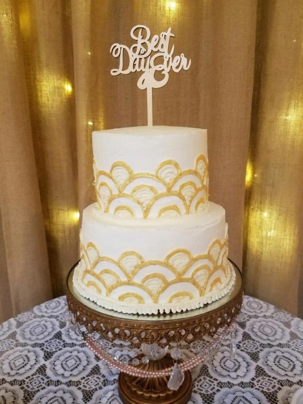 Wedding cake from Main Street Bakery & Catering Luray VA