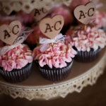 Cupcakes for a wedding by Main Street Bakery & Catering Luray, VA